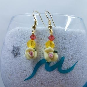 Floral Swarovski Crystal Earrings